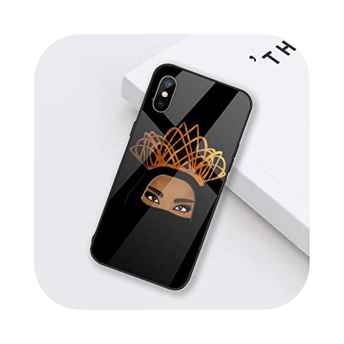 Funda para teléfono móvil de mujer en hijab cara musulmana de cristal templado para iPhone 6, 6S, 7, 8 Plus, X, XS XR 11, 12 mini PRO MAX-a8-iphone12 12pro
