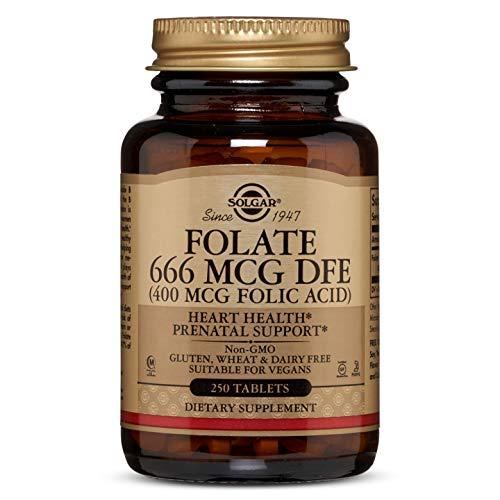 Solgar® Folacín (ácido fólico) 400 µg para embarazo y
