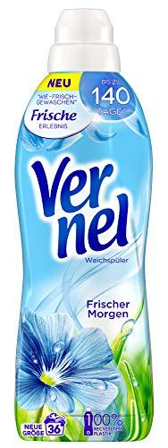 Vernel Frischer Morgen, Weichspüler, 36 (1x36) Waschladungen, für einen langanhaltenden Duft und traumhaft weiche Wäsche
