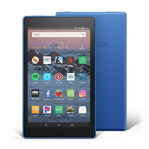 Certified Refurbished Fire HD 8 Tablet (8' HD Display, 32 GB) - Blue (Previous Generation - 8th)- Includes Special Offers + 1 year Amazon Kids+ for $20 (with auto-renewal)