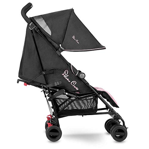 Silver Cross Zest Stroller, Compact and Lightweight Pushchair, Powder Pink