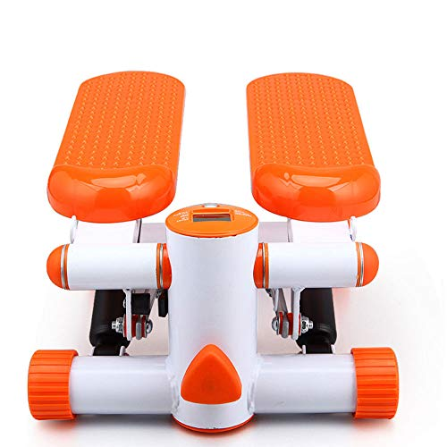 TWW Hydraulik, Schrittmaschine, Stille Mini-Haushaltsmaschine, Taillendrehmaschine, Pedalmaschine, Multifunktions-, Sportgeräte-Fitnessgeräte,Orange