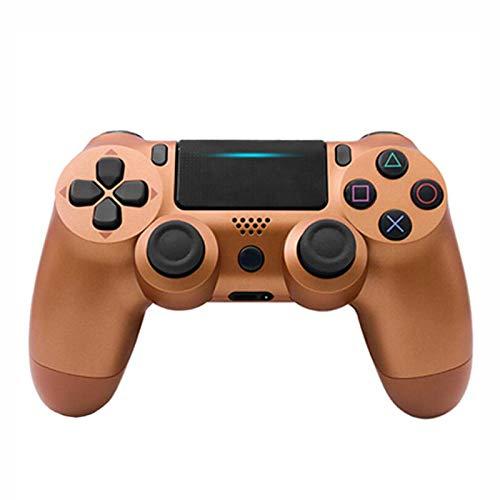 EtexFan Mandos PS4 Inalambricos, Controlador de Juegos PS4 Inalámbrico Bluetooth Gamepad de Doble Vibración 6-Axis para Playstation 4/PS3/PC - Marrón clásico