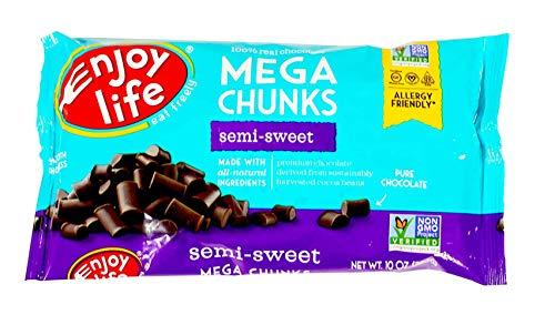 Enjoy Life Mega Chunks Gluten Free NonGMO SemiSweet Chocolate  10 oz Each / Pack of 3