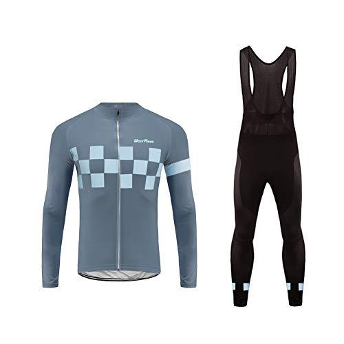 Uglyfrog Maillot de Cycliste à Manche Longue Veste Pantalon Chaud Coupe Vent Combinaison Cycliste Vélo VTT Vêtements Réspirant Etanche Hiver pour Homme