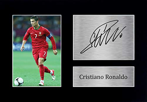 HWC Trading Cristiano Ronaldo A4 Ungerahmt Signiert Gedruckt Autogramme Bild Druck-Fotoanzeige Geschenk Für Portugal Fußball Fans