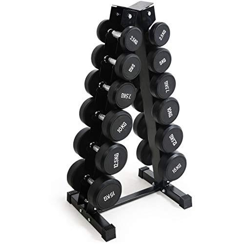 LTZ Porta Manubri in Acciaio Solido, Rastrelliere per Manubri A-Frame 3 4 5 6 Tier, Set di Manubri per Pesi per Esercizi di Palestra a Casa, Portante 150 kg (Color : 105 kg Dumbbell+Rack)