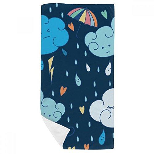 DIYthinker WÖlke Regenschirm-Regen-Herz-Badetuch weichen Waschlap Kulli Waschlap Kulli 35X70Cm 35 x 70cm Mehrfarbig