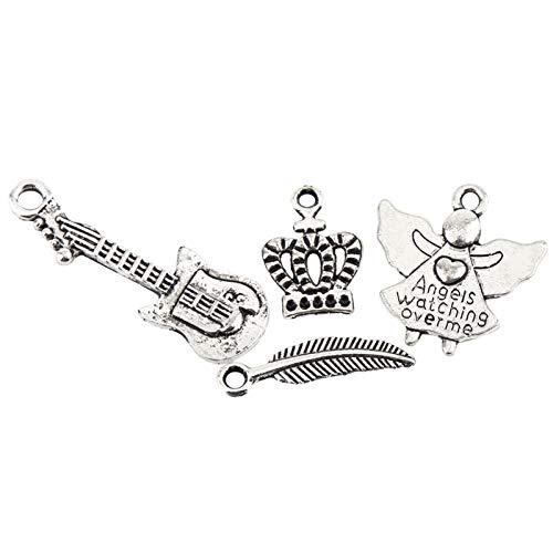 Nannigr Accesorios de Amuleto de patrón Mixto, Piezas Colgantes Colgantes de Plata tibetana CREA Tus propias Manualidades únicas Alta dureza para fabricación de Manualidades para Bricolaje