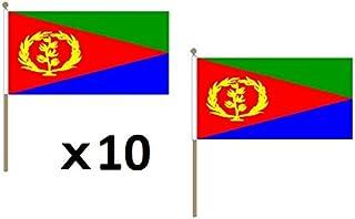 Flaggenfritze/® Stockflagge Eritrea 30 x 45 cm