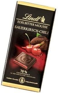 2x Lindt Edelbitter Mousse Sauerkirsch Chili 150g (German Import)