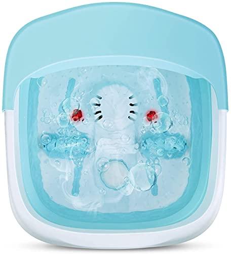 Baño de Pies Plegable con Calefacción, Dispositivo de Calefacción por Infrarrojos, Masaje de Pies, Plegable, Masajeador de Pies