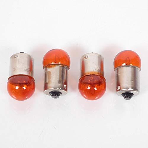 one by Camamoto cod 77220003 kit 4 lampade / lampadine frecce colore arancio 12v. / 10w bulbs / ba15s compatibile con scooter 50cc enduro
