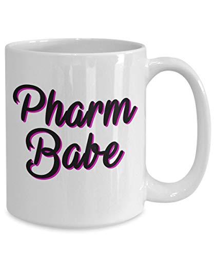 DKISEE Pharmacéutico Gifts taza de café Pharm Babe idea de cumpleaños para hombres y mujeres, 11 oz