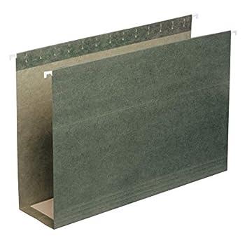 Smead Box Bottom Hanging File Folder 3  Expansion Legal Size Standard Green 25 per Box  64379