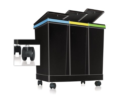 Smarty   Contenedores para la separación de residuos Ecobin   3 Contenedores   Capacidad total 63 litros   Medidas 55 x 34 x 50 cm de altura