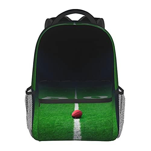 Estadio de fútbol americano impresión mochila de impresión portátil impermeable antirrobo casual mochila bolsa USB puerto de carga mochila unisex