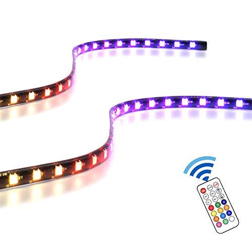 EZDIY FAB adressierbare RGB LED Streifen mit Magnet fur PC Computergehause mit Fernbedienung kompatibel mit ASUS Aura Sync und MSI Mystic Light Sync 2 Pack 40 cm