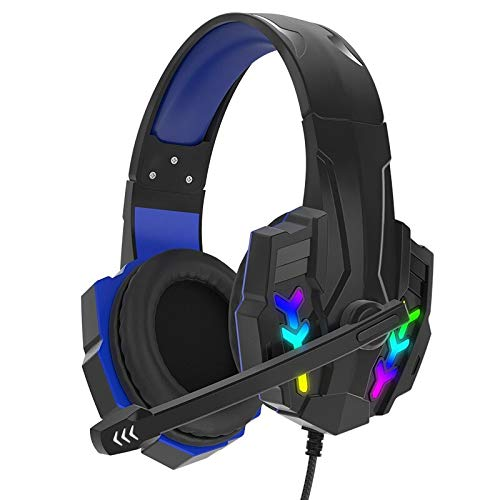 Stereo Bass Earphone Gaming Headset 3.5mm+USB Wired with Microphone Headphones