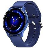 "CUBOT W03 Smartwatch, Reloj Inteligente, 1.28"" pantalla táctil, impermeable IP68, podómetro con monitor de sueño, Ritmo Cardíaco, para Android / iOS. Azul"
