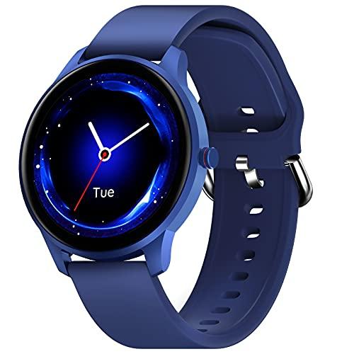 CUBOT Smartwatch Herren, Fitnessuhr, 1.3 Zoll Touchscreen, IP68 Wasserdicht Fitness Tracker, Pulsuhr, Schrittzähler, mit Schlafmonitor, für Android/iOS, Blau