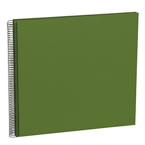 Semikolon (352904) Spiral Album Large irish (dunkel-grün) - Spiral-Fotoalbum mit 50 Seiten u. Efalin-Einband -Spiralfotobuch mit schwarzem Fotokarton
