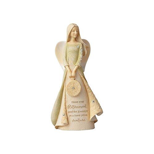 Enesco Foundations Retirement Angel Stone Resin Figurine, 4.33'