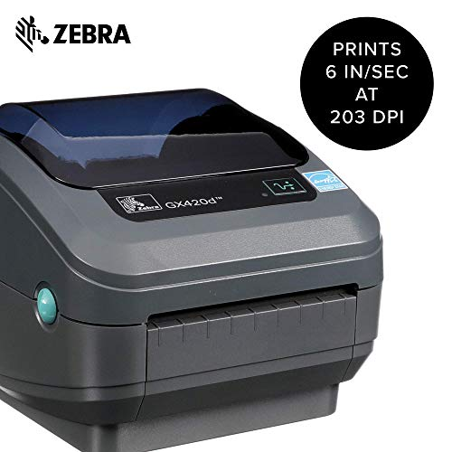 Zebra - GX420d Direct Thermal Desktop Printer for Labels, Receipts, Barcodes, Tags, and Wrist Bands - Print Width of 4 in - USB, Serial, and Parallel Port Connectivity (Renewed) Photo #4