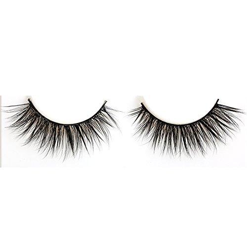 Provide The Best 3 Paires 3D Natural Bushy Cross Faux Cils Mink Cheveux Cils Noir Noir