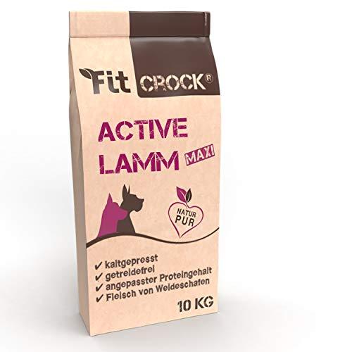 cdVet Fit-Crock Hundefutter trocken Active Lamm Maxi 10 kg, getreidefrei