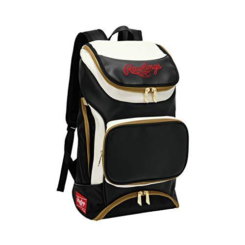 ローリングス (Rawlings) 野球用 バッグ (リュック タイプ) チームバックパック 38L EBA9S01 ブラック/ホワイト