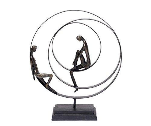 Brillibrum design sculptuur vriendschap polystone decoratieve figuur samen metalen relatie liefdespaar figuur decoratie woning modern