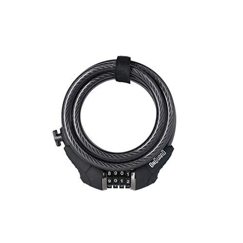 ONGUARD Unisex_Adult Dobermann Spiral Cable Lock, Grey, 1 size