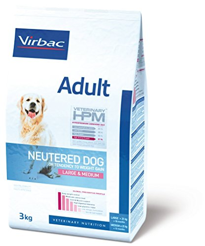Virbac Veterinary HPM Vet Dog Ad Neutered M/L Nourriture pour Chien 12 kg