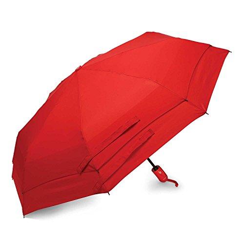 Samsonite Windguard Regenschirm mit automatischem Öffnen und Schließen, rot (Rot) - 51701-1726