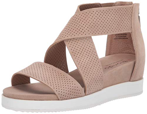 Blondo Women's Cassie Sandal, Sand Suede, 8.5 Medium US