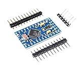 Paradisetronic.com Módulo Pro Mini con microcontrolador Atmel ATmega328, placa de desarrollo compatible con Arduino, 5 V, 16 MHz
