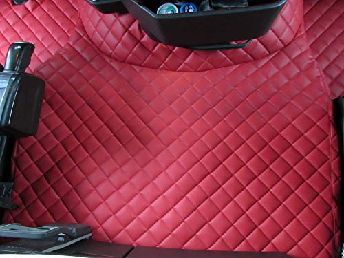 TEXMAR Alfombrillas para camión diseñadas para adaptarse a Volvo FH4 AUTOMAT después de 2014 a mano izquierda, color rojo