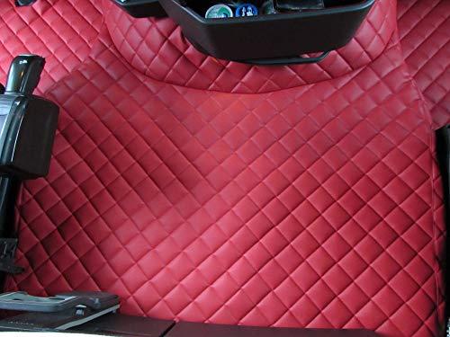 TEXMAR - Alfombrillas para Volvo FH4 AUTOMAT después de 2014 con Volante a la Izquierda, Color Rojo
