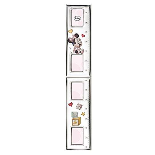 Disney - Minnie Mouse - Gráfico de crecimiento para la pared - Con marcos y detalles en plata - Medidor para decorar una habitación infantil