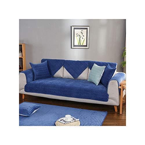 HGblossom Kristall Samt Sofabezug Weiche Verdicken Couchbezug Sofa Couchtuch Für Wohnzimmer Dekor Blau 1 Stück 90X210 cm 1 Pi