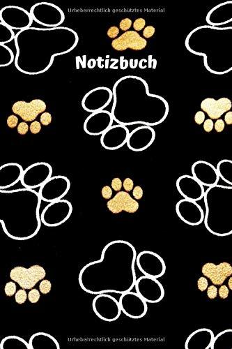 Notizbuch: Notizbuch Hund | Pfotenabdruck | Journal | Malbuch | Tagebuch | Kritzelbuch | DIN A5 | für Hundefans Hundeliebhaber Frauen Mädchen Männer ... Geschenk | Geschenkidee (liniert, 100 Seiten)