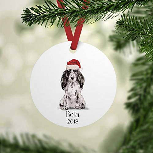 Adorno de perro con nombre personalizado Cocker Spaniel Ornamento de Cocker Spaniel Ornamento de Cocker Spaniel Propietario Presente Pandemia Decoración de Navidad Regalo de boda