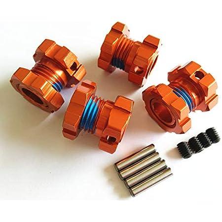 Traxxas TRA8654A 17mm Wheel Hubs Splined Orange Anodized Aluminum 7075-T6 8654A