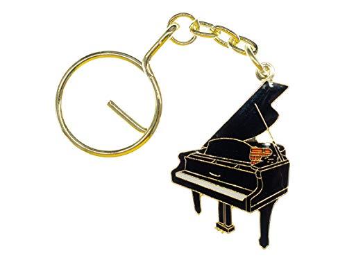 Miniblings Piano Schlüsselanhänger Klavier Musik Instrument Musiker Pianist - Handmade Modeschmuck I I Anhänger Schlüsselring Schlüsselband Keyring