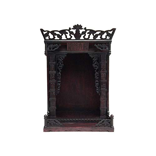 LLCC Sacred Altar Cabinet Buddhist Altar Cabinet Zen Shrine Enshrined Table Cabinet Sacrificial Supplies for Meditation, Prayer, or Contemplative Studies (Size : 12×18in)