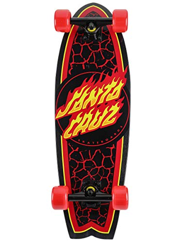 "Santa Cruz Skateboard Complete Flame Dot Shark Cruiser Red 8.8"" x 27.7"""