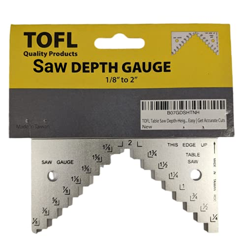TOFL Table Saw, Circular Saw Depth Gauge - Step Gauge for Setting Height of Your Saw Blade Tool for Woodworking Projects - Helps Make Your Saw Set Up Fast and Easy - Get Accurate Cuts