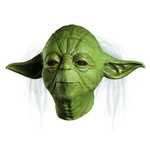 JNKDSGF HorrormaskeParty Supply hochwertige grüne Alien Scary Maske Star Wars Shrek Yoda Maske Halloween Cosplay Kostüm-1
