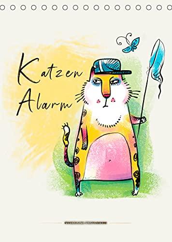 Katzen Alarm (Tischkalender 2022 DIN A5 hoch)